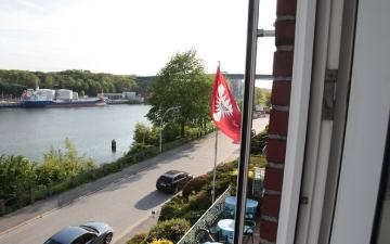 Sicht vom Hotelzimmer auf den Kanal
